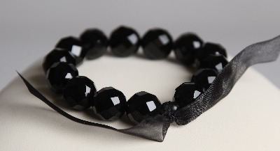 LouMae Loves Statement Bracelets - Naomi - Faceted Black Agate