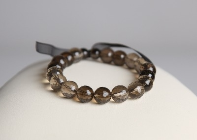 LouMae Loves Statement Bracelets - Sade - Smokey Quartz Dazzles Like a Jewel in a Crown