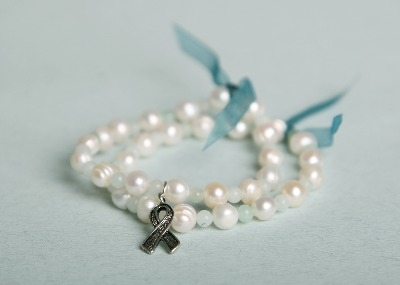 Ovarian Cancer Action Bracelet - Blue Amazonite (without charm)