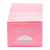 Fairfield Gardens LipB balm POS (point of sale) display box - closed