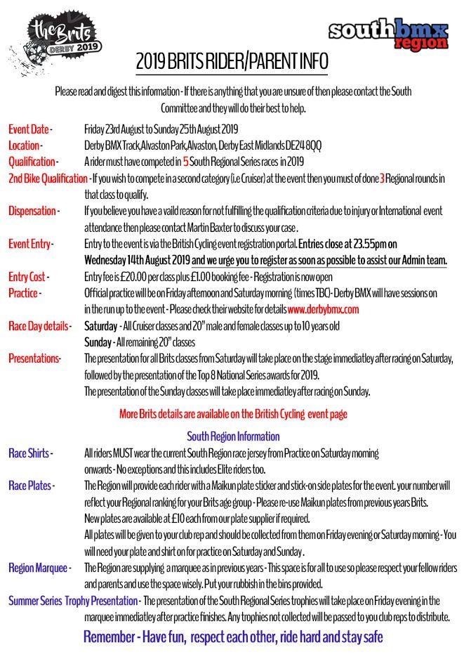 brits info sheet