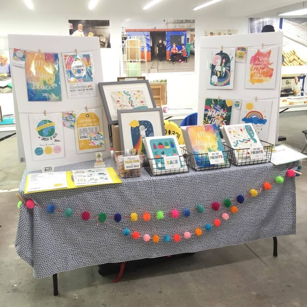 Paper Joy UK at Hull Print Fair Stall