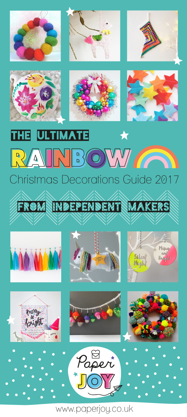 The-Ultimate-Rainbow-Christmas-Decorations-Guide-2017-from-Independent-Make