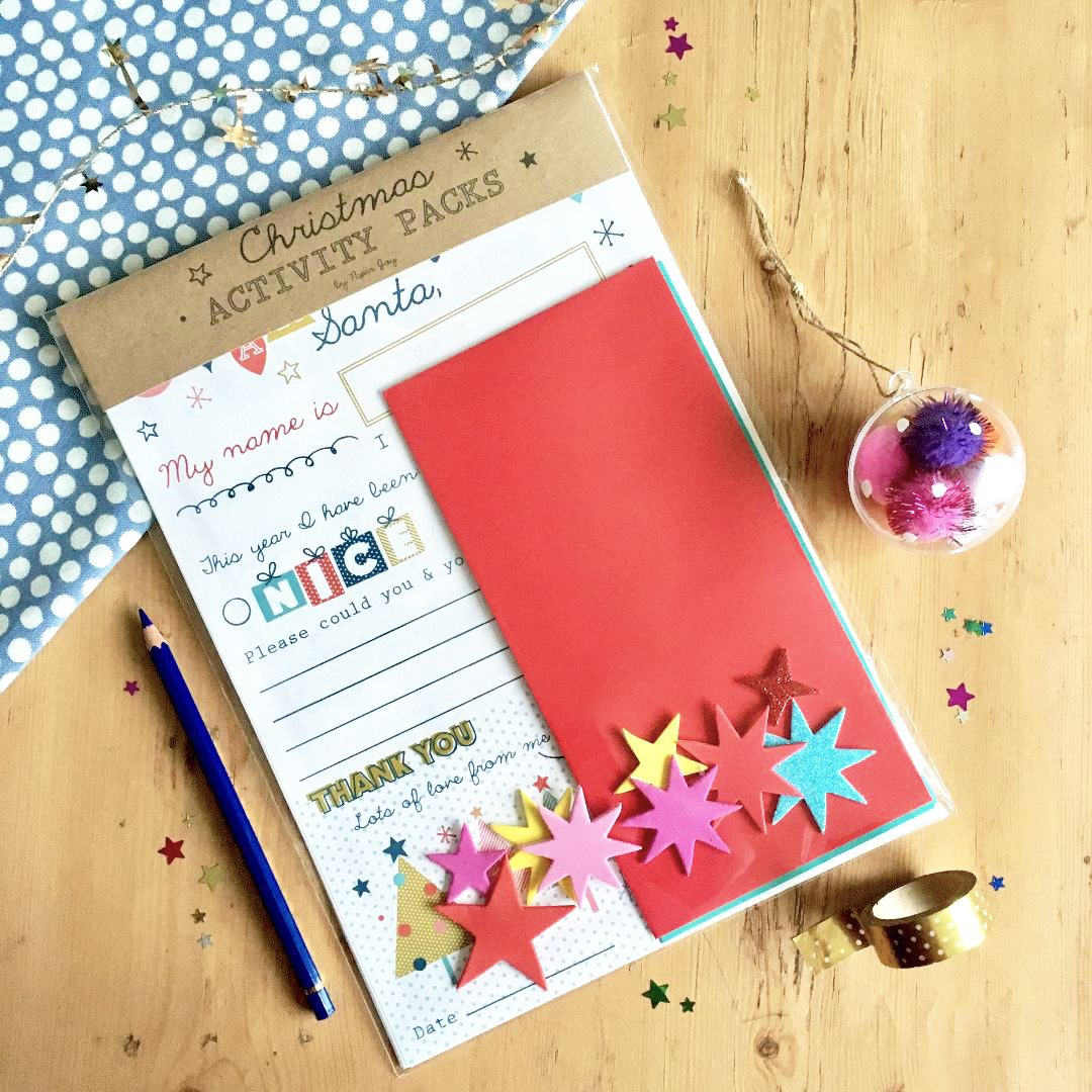 Kid's Christmas Activity Pack Santa Letter & More