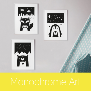 Monocrome Art Prints