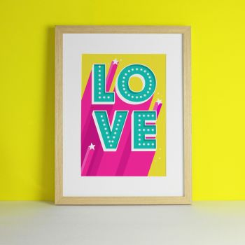 Love Letter Sign Art Print