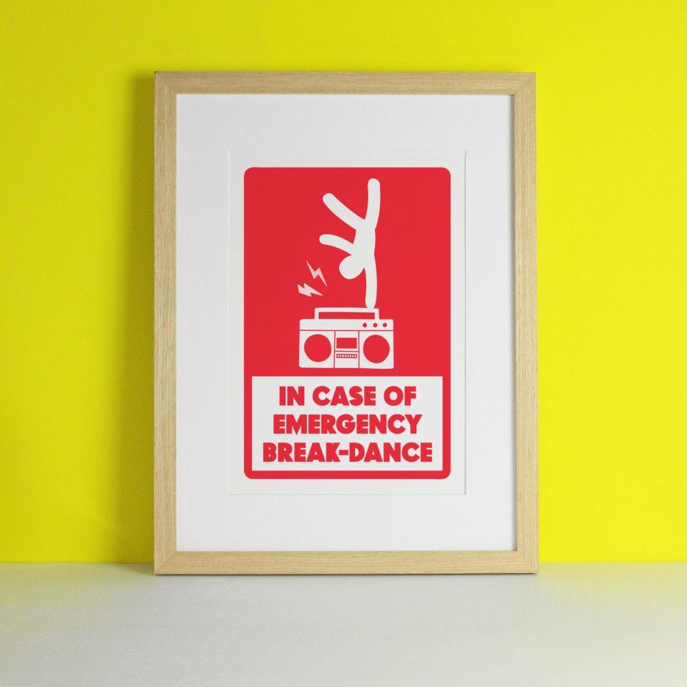 Break Dance Funny Art Print