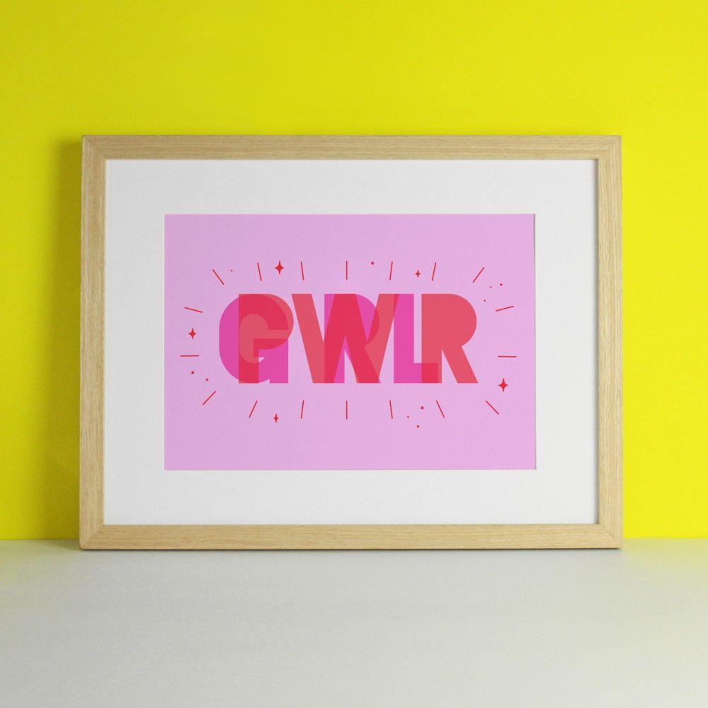 Girl Power Pink Art Print