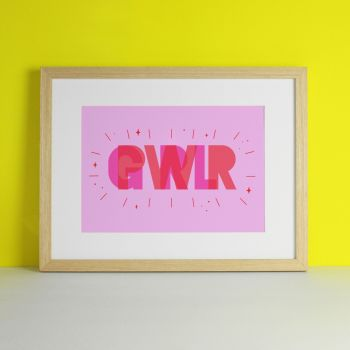 Girl Power Pink Art Print