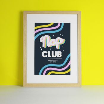 Nap Club Kids Nursery Art Print