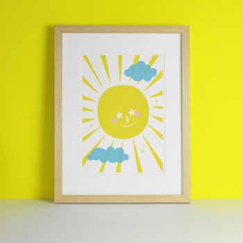 Smiley Sunshine Children's Art Print
