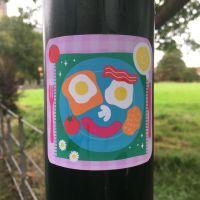 Breakfast Happy Vinyl Sticker