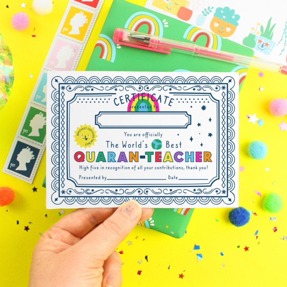 Teacher Thank You Quarantine Printable Card