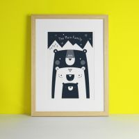 Personalised Bear Family Art Print