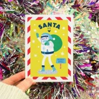 Christmas PPE Santa Greeting Card