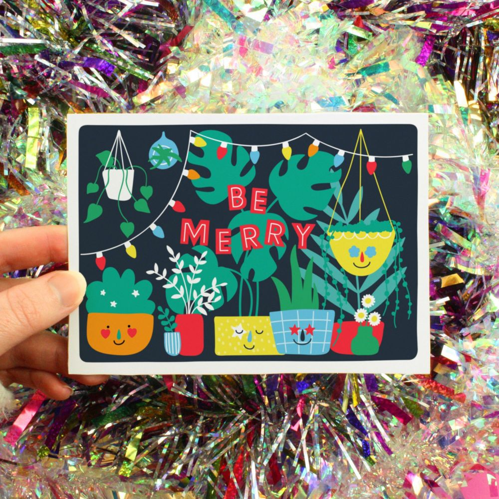 Be Merry Christmas Greeting Card