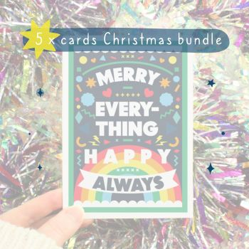 5 x Christmas Card Bundle Offer
