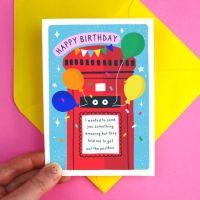 Birthday Postbox Greeting Card