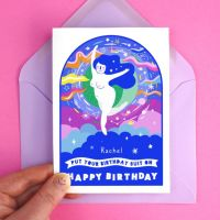 Birthday Suit Wishes Greeting Card