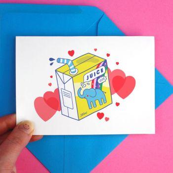 Elephant Juice I LOVE YOU Greeting Card