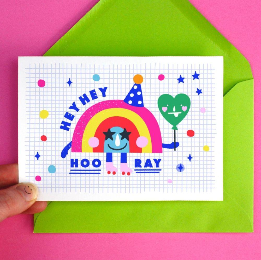 Hip Hip Hooray Celebration Greeting Card