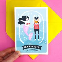Mermaid For Each Other Valentine's Greeting Card