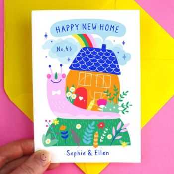 New Home Snail Greeting Card
