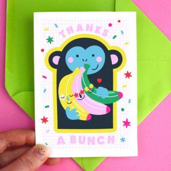 Thanks a Bunch Banana Greeting Card
