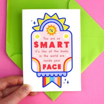 Congratulations Funny Smart Greeting Card