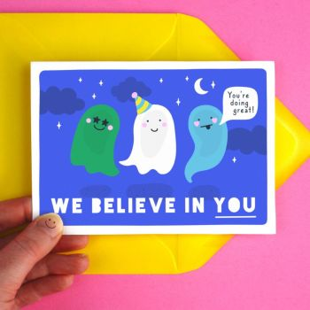 Inspiring Ghosts Greeting Card