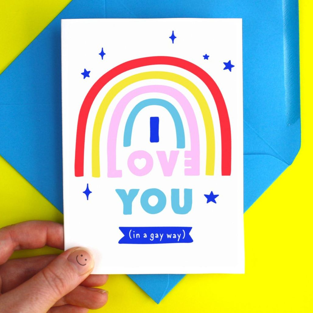 Love You In A Gay Way Greeting Card