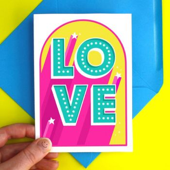 Love Light Up Sign Greeting Card