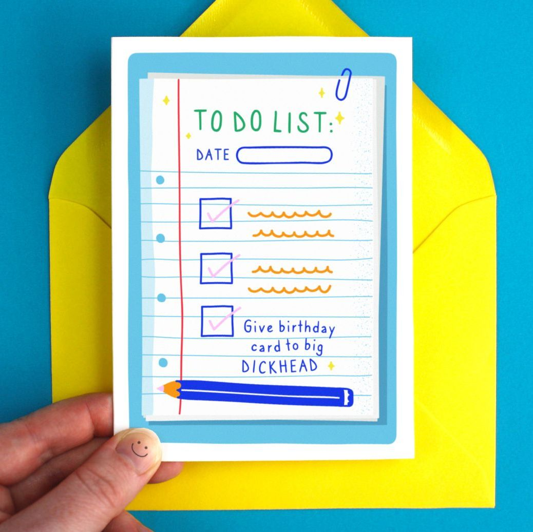 Happy Birthday To Do List Funny Greeting Card