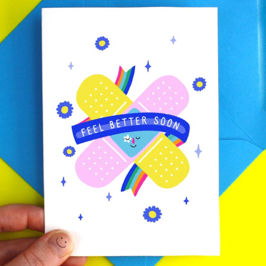 Get Well Soon Take Care Greeting Card