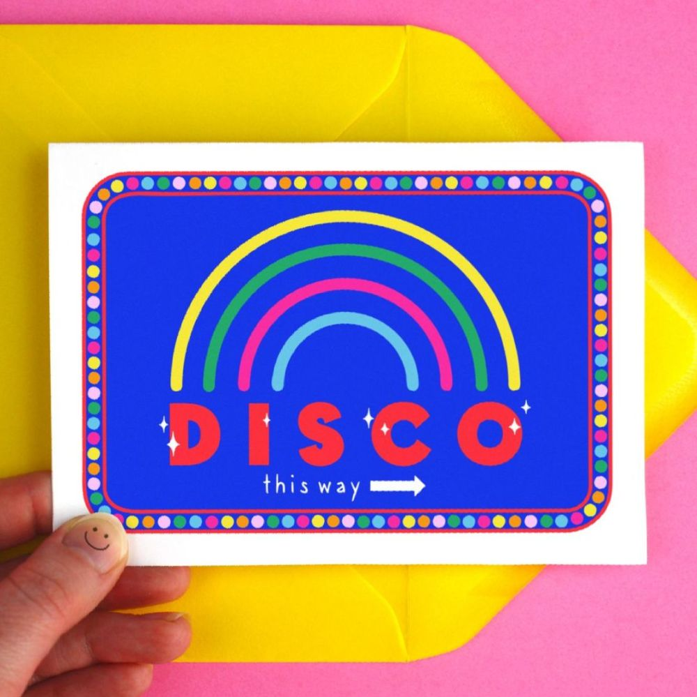 Disco This Way Greeting Card