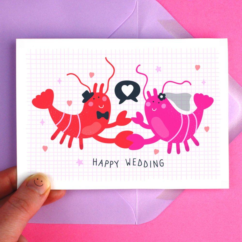 Lobster Wedding Romantic Greeting Card