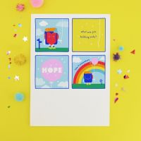 Hold Onto Hope Doodle Postcard