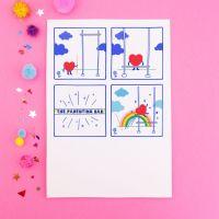 Parenting Bar Doodle Postcard
