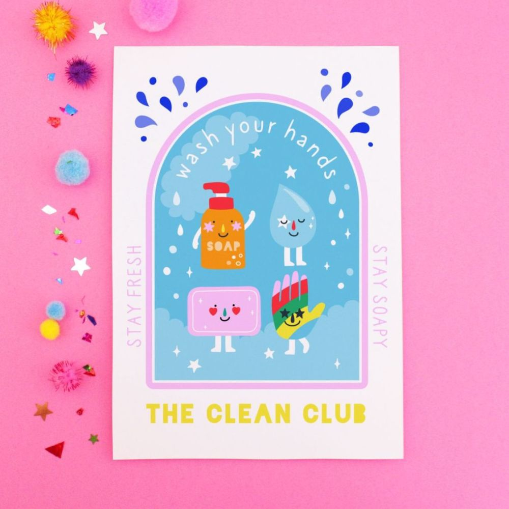 Wash Your Hands Postcard