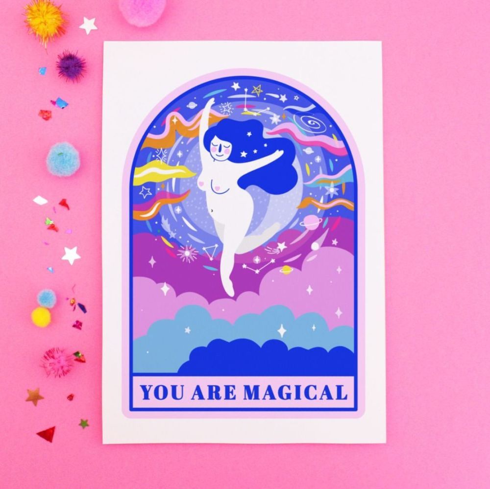 You Are Magical Postcard