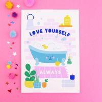 Self Care Bath Postcard