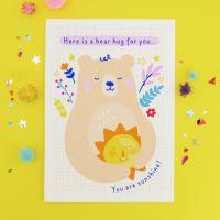Bear Hug Sunshine Postcard