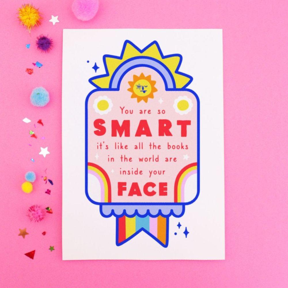 You're So Smart Postcard