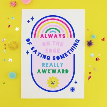 Edge of Awkward Postcard