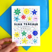 Star Teacher Colourful Card