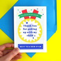 Teacher Thank You Funny Award Card