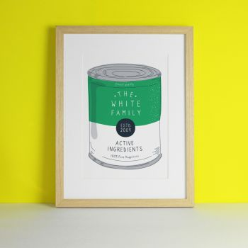 Personalised Family Soup Tin Pop Art Print