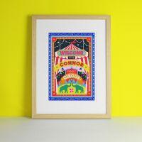 Circus Family Personalised Art Print