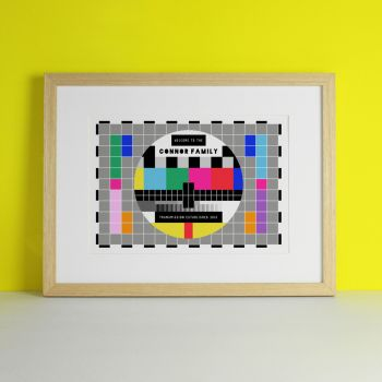 TV Signal Family Personalised Print