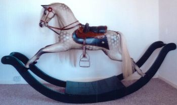 Antique Bow Rocking Horse Restored John & Dorothy Woods (TV Star)